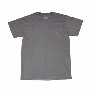 FLOWGRESSIVE FG TAG POCKET TEE BY ELI MORGAN GESNER CHARCOAL
