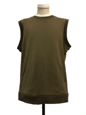 OVER SIZE FUNCTIONAL VEST - OLIVE -