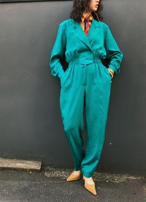 80s green jumpsuits ( ヴィンテージ グリーン オールインワン )