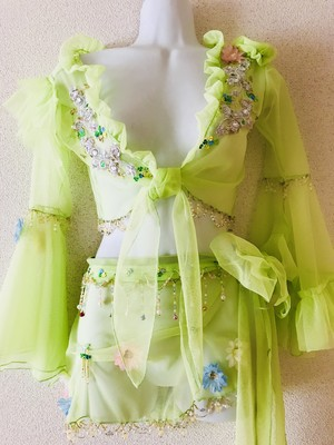 "20% OFF SALE!!! Hip Frill and Choli set ""Spring Fairy"""