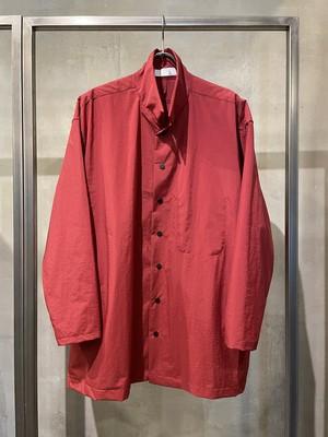 T/f Lv5 water repellent nylon coverall blouson - dark red