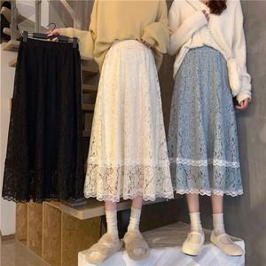 花柄レースロングスカート