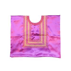 メキシコ オアハカ刺繍ウイピル[001_PINK]