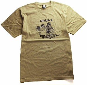 NINJA X(Tシャツ)Original Music-Set T-shirt Sand Khaki ニンジャエックス 4720-Sand