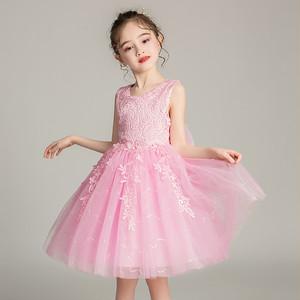 8384キッズドレス 子供ドレス ジュニア 女の子ドレス ミニ丈ワンピース ノースリープ100-160cm