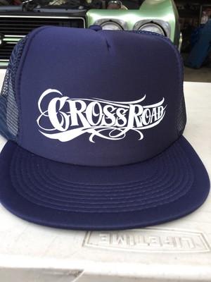 CROSS ROAD メッシュキャップ NAVYx白logo