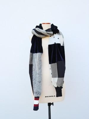 patchwork muffler (black)