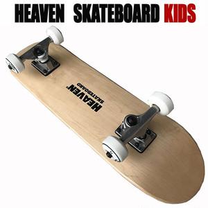 ヘブン 子ども用 ハイスペック コンプリート スケートボード ナチュラル 27×7 選び抜かれた高品質のスケボー