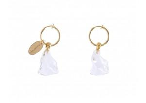 【Sea'ds mara】Crystalline hoop Earrings
