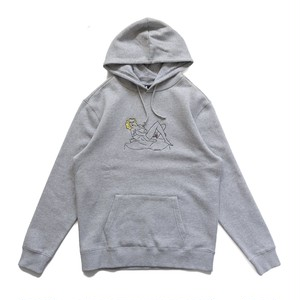 CHRYSTIE NYC / WOMEN ON THE CHAIR HOODIES -HEATHER GREY-