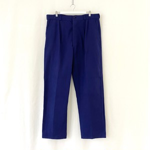 """FRANCE 70s vintage""""FRENCH ARMY""""ink blue cotton twill work pants Manufactured by SAINT JAMES/S.N.C.-DEAD STOCK-"""