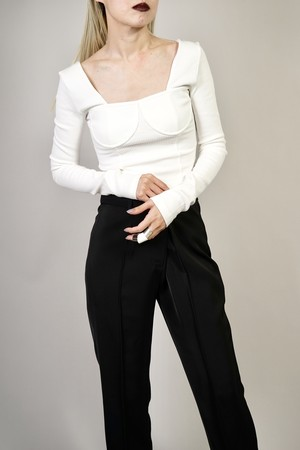CORSET CROPPED TOPS (WHITE) 2102-72-7