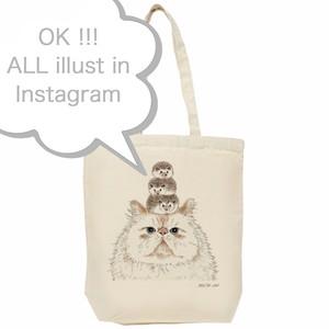 """""""Instagramの猫イラストで作るオリジナルエコバッグ""""猫雑貨"""