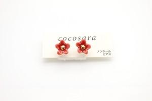 有田焼ノンホールピアス flower 13