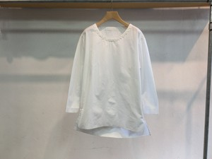 "theSakaki""theBang 織物 U/neck Long Sleeve White"""