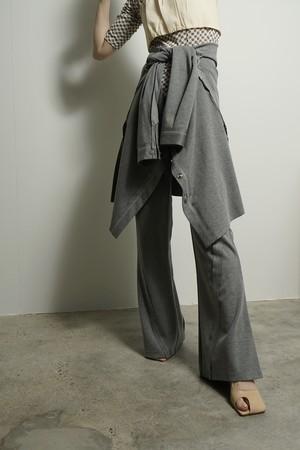STITCH FLARE PANTS  (GRAY) 2105-594-HK51