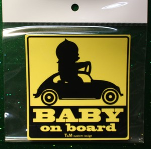 BABY ON  BOARD ステッカー TYPE1 送料無料