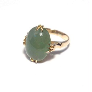 Vintage Japanese Ring - K18 Nephrite Color #5
