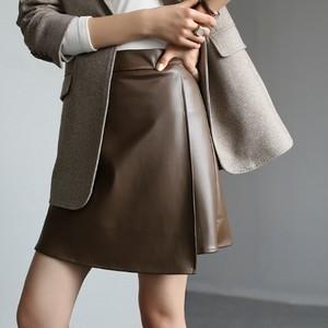 2色/レザースプリットスカート ・1055