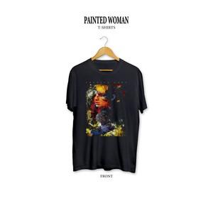 Painted Woman T-shirts / Black