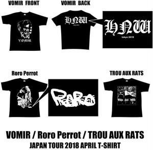[PRE ORDER until March21th] VOMIR/Roro Perrot/Trou Aux Rats - JAPAN TOUR 2018 April (3 T-shirt Batch)