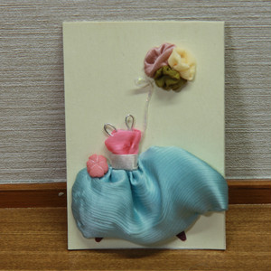 母の日花束付きギフト メッセージカード(はな風船B)花衣(紅花)
