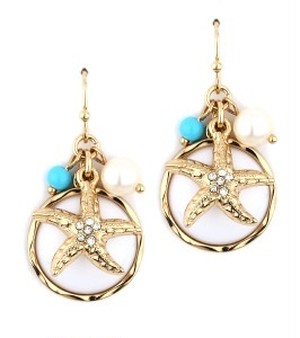 STARFISH and Round stone Pierce (FE0984)