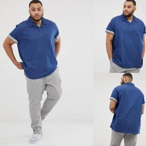 ビッグサイズ 【ASOS】 オーバーサイズ ボクシーストレッチ デニムシャツ/ブルー