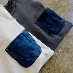 Aonoha別注 藍染Vintage Pocket Tee 2color (mens)