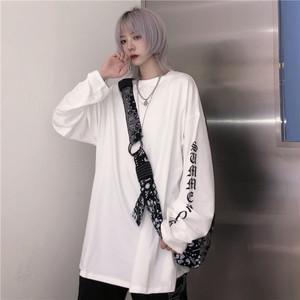 【トップス】長袖シンプルファッションカジュアルアルファベットプリントTシャツ33780507