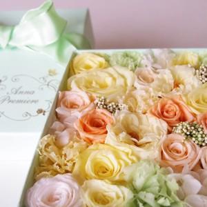 アニバーサリー S ミントグリーン ボックスフラワー(Box Flower Mint Green  S)