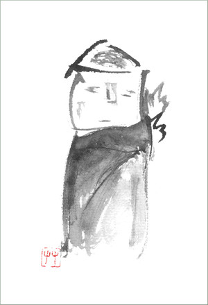 葉書「風羅」筆:姫踊子草2