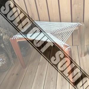≫ヴィンテージ古いおしゃれなウッド×ロープチェア*木製×縄編み椅子*イス*ベンチ*天然生活ナチュラル自然*デザイナーズチェア*ビンテージ