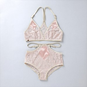 ヤーチャイカ for GIRLIN'  ::: PUNK LOVE :::  Bra & Panty Set  (GIRLIN' PINK)