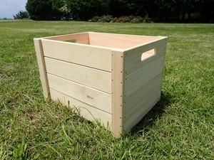 ヒノキの木箱