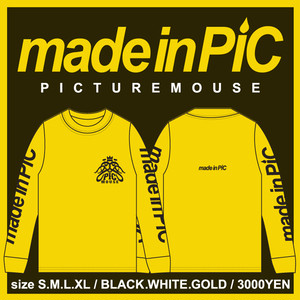 PICTURE MOUSE■long sleeve(GOLD)