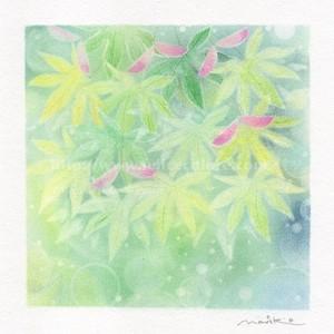 Mariko Hirai フォトdeアート シャボン玉アートパステル原画 【神様のパレット】