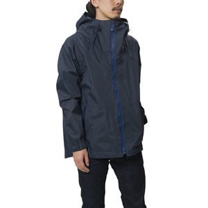 SAITOS NYLON RIPSTOP 3LAYER HOODED PARKA - NAVY