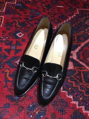 .GUCCI LEATHER HORSE BIT HEEL PUMPS MADE IN ITALY/グッチレザーホースビットヒールパンプス 2000000045832