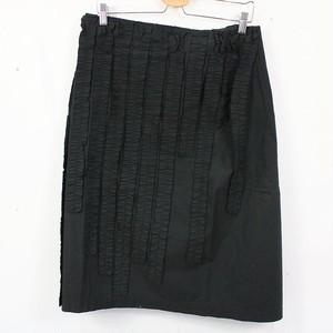 JUNYA WATANABE / ジュンヤワタナベ | AD1997 | 90s フリル装飾 コットンラップスカート | - | ブラック | レディース