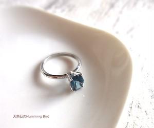 天然石の指輪■ロンドンブルートパーズ