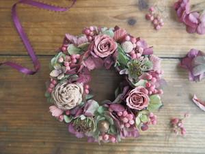Petite Couronne<Marsala Rose>*幸せ舞い込むリース クリスマス プリザーブドフラワー 花