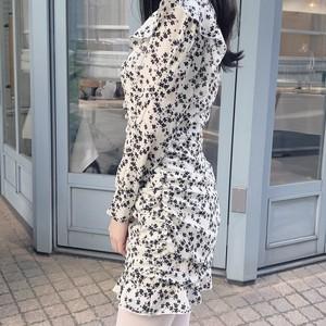 【即納】shirring mini dress