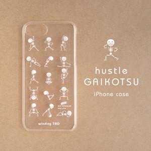 ハッスルがいこつクリアiPhoneケース[iPhone5/5s/5c/SE/6/6s/7/8/X/XS]