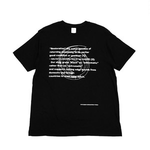 RESTORATION - 6years Anniversary T-shirt (BLACK) -