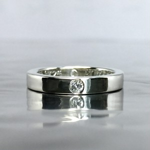 PLAIN BAND RING with DIAMOND / プレーンバンドリング・ダイヤモンド