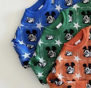 在庫限り 5900円+税 親子ペアルック Mickey knit (ママ)