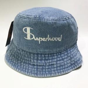 Superhood Bucket Hat (Light blue denim)
