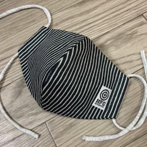 手作りマスク(dark stripe)