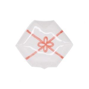 【限定1点 アウトレット品】有田焼 折紙型 小皿 結び紋 赤 252823 豆豆市050